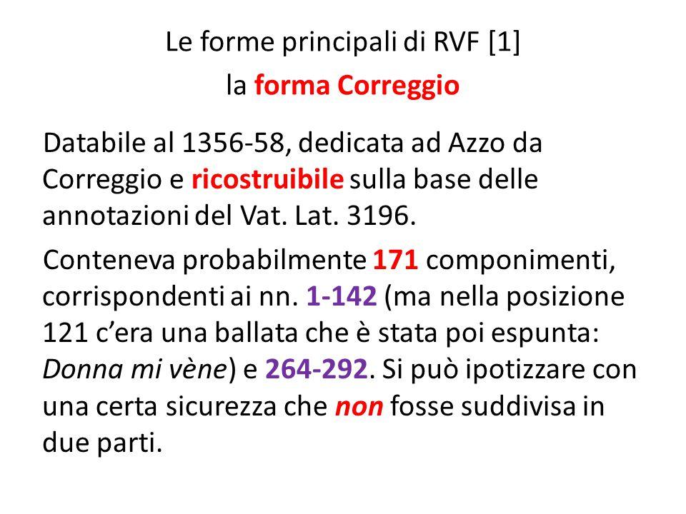 Le forme principali di RVF [1] la forma Correggio